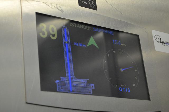 Скоростной лифт в Сапфире Стамбула