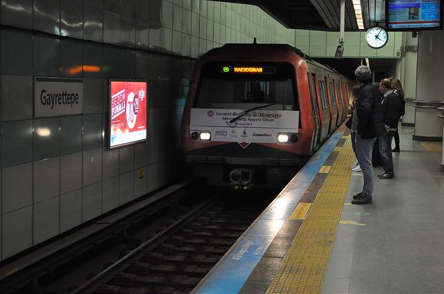 Метропоезд, линия М2, Стамбул