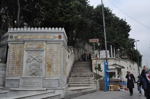 Лестница на кладбище Султан Эйюп, Стамбул