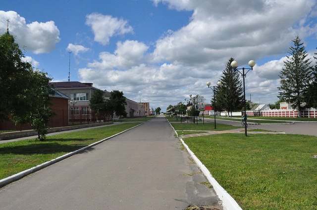Советская улица в Комаричах