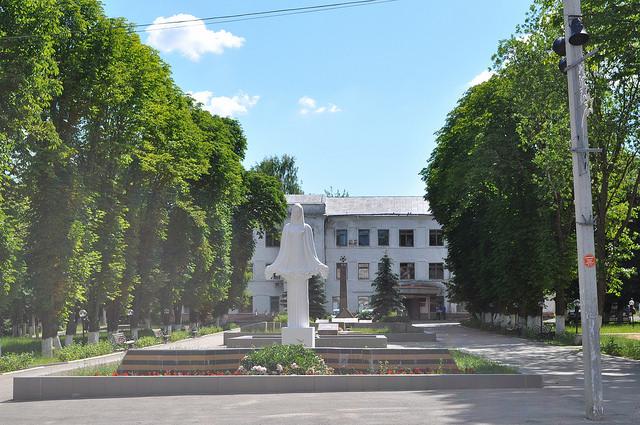 Сквер перед администрацией Арсеньево