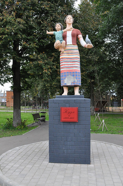 Кузьма и мама в Одоеве