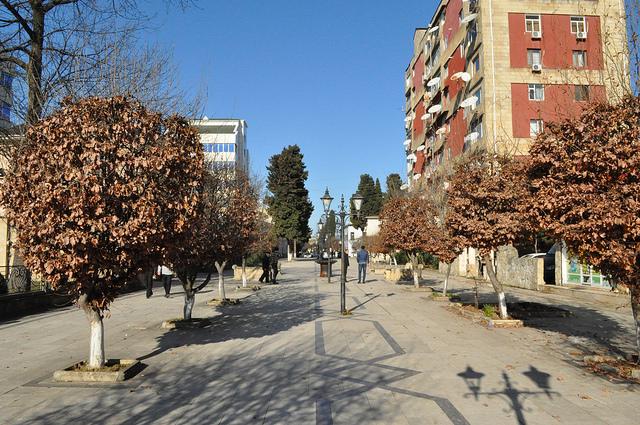 Пешеходная улица, Ленкорань