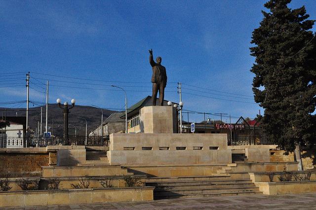 Ленин на пл. Свободы в Дербенте