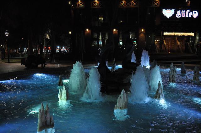 Фонтан в парке Хагани (Молоканский сад), Баку