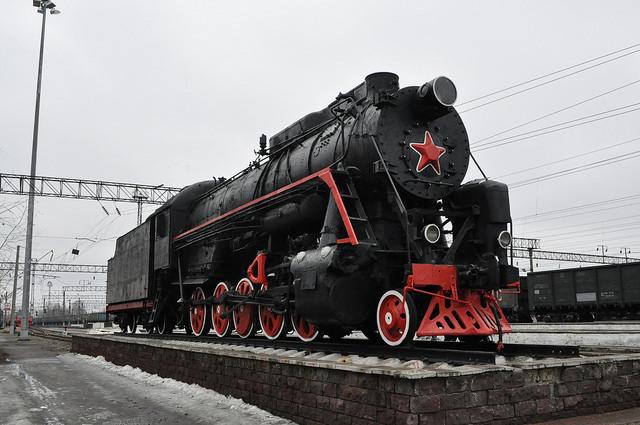 Паровоз-памятник Л-2248 в Муроме