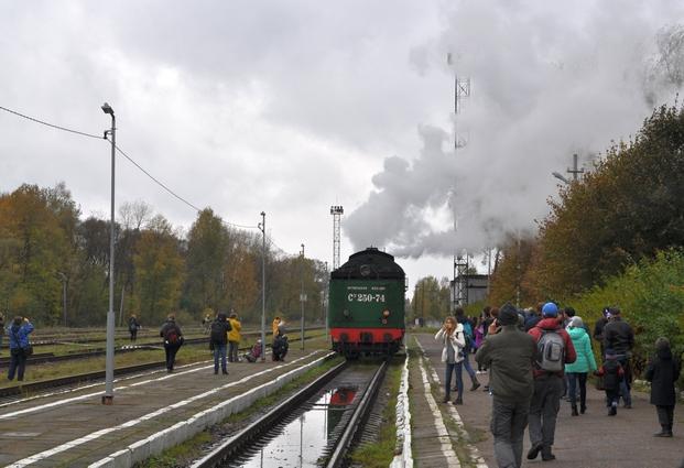 Паровоз на станции Осташков