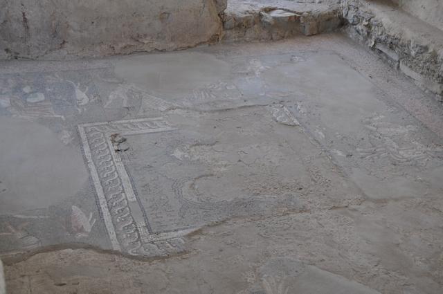 Мозаика в банях Гарни