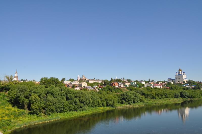 Вид на центр Ельца с Каракумского моста