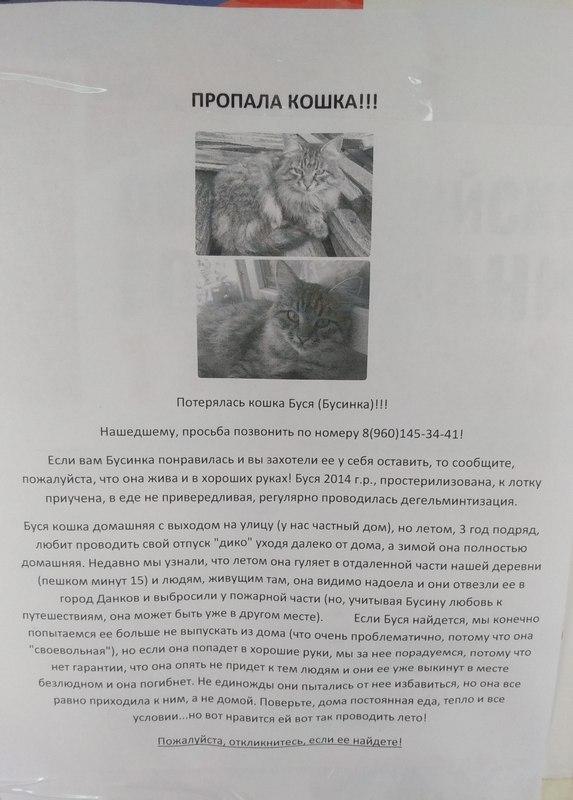 Объявление на остановке в Яхонтово.